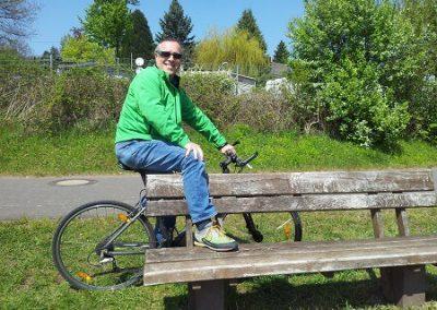 Fahrradfahren bei jedem Wetter