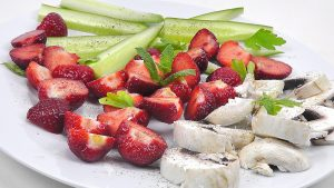 Rohkost Erdbeeren
